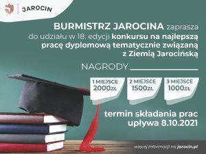 Konkurs na najlepszą pracę dyplomową - związaną tematycznie z Ziemią Jarocińską