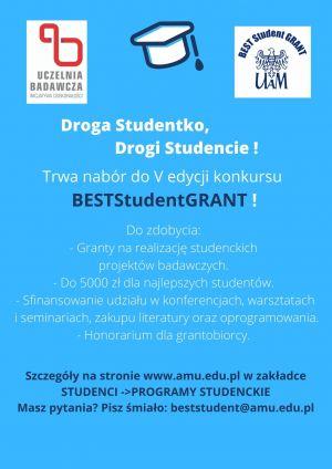 Jeszcze tylko do 12 maja można aplikować do udziału w piątej edycji konkursu BESTStudentGRANT